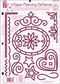 """Hot Off the Press Templates 8.5""""x11"""" - Paper Piercing Patterns"""