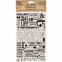 Tim Holtz® idea-ology Remnant Rubs Rub-Ons - Life Quotes