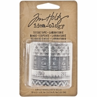 Tim Holtz® idea-ology Tissue Tape - Laboratorie Black