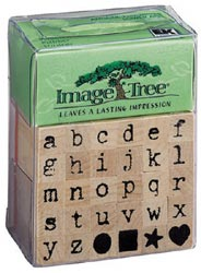 Image Tree Rubber Stamp Set - Antique Typewriter Alphabet/Lower - Click to enlarge