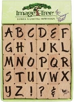 Image Tree Rubber Stamp Set - Brush Letters Alphabet/Upper Case