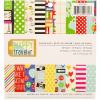 "Imaginisce Single-Sided Paper Pad 6""x6"" - Happy Traveler"