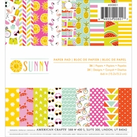 "Imaginisce Sunny Single-Sided Paper Pad 6""x6"""