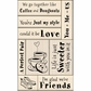 Inkadinkado Card Making Mounted Stamp Set - Love & Friendship