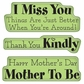 Inkadinkado Cling Mini Stamp - Mother Expressions