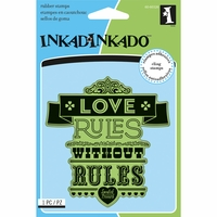 Inkadinkado Cling Stamps - Love Rules Proverb