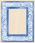 Inkadinkado Rubber Stamp w/Wood Handle - Swirl Frame