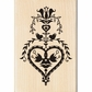 Inkadinkado Seasonal Mounted Rubber Stamp - Folk Art Heart