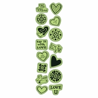 Inkadinkado Valentine Cling Stamps - Little Icons