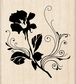 Inkadinkado Wood Mounted Rubber Stamp - Flower