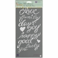 """Jamie Doughtery Bloom Stencil 6""""x12"""" - Phrases"""