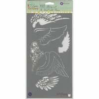 "Jamie Doughtery Bloom Stencil 6""x12"" - Wings"