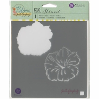 "Jamie Doughtery Bloom Stencil 6""x6"" - Hibiscus"