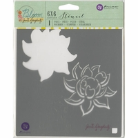 "Jamie Doughtery Bloom Stencil 6""x6"" - Lotus"