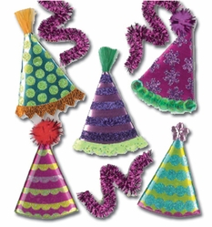 Jolee's Boutique Dimensional Sticker - Party Hats - Click to enlarge