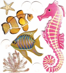 Jolee's Boutique Dimensional Sticker - Sea Creatures - Click to enlarge