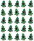 Jolee's Boutique Dimensional Stickers - Christmas Tree Repeats