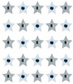 Jolee's Boutique Dimensional Stickers - Silver Star Repeats