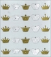 Jolee's Boutique Parcel Dimensional Stickers - Mini Crown Repeats