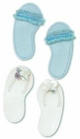 Jolee's Boutique Themed Leatherette Stickers - Summer Sandles