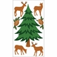 Jolee's Christmas Stickers - Winter Trees With Deer