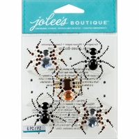 Jolee's Halloween Stickers - Beaded Spiders