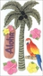 Jolee's Parcel Le Grande Stickers - Glitter Palm Tree