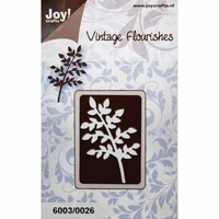 Joy! Craft Dies - Vintage Flourishes/Small Leaves/Branch