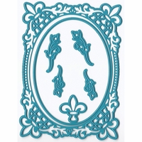 Joy! Crafts Cut & Emboss Dies - French Lily Oval