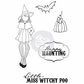 Julie Nutting Cling Rubber Stamps - Witchy Poo