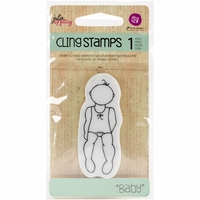 Julie Nutting Doll Cling Stamp - Baby