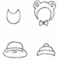 Julie Nutting Mixed Media Cling Rubber Stamps - Baby Hat & Bib Set