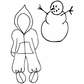 Julie Nutting Mixed Media Cling Rubber Stamps - Baby Snow Suit Set