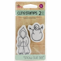 Julie Nutting Doll Cling Stamp - Baby Snow Suit Set