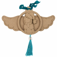 Julie Nutting Mixed Media Etched Wood Ornaments