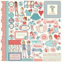 "Julie Nutting Paper Dolls Stickers 12""x12"" - Element"