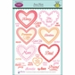 JustRite Papercraft Clear Stamp Set - Sweet Hearts