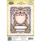 JustRite Stampers Cling Background Stamp - Cupid