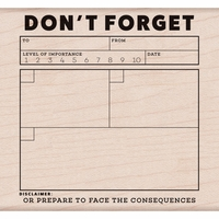 Kelly Purkey Mounted Rubber Stamp - Don't Forget
