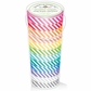 Kraft In Color Washi Tape In Tube Container - Candy Stripes