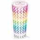 Kraft In Color Washi Tape In Tube Container - Chevron