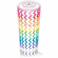 Doodlebug Kraft In Color Washi Tape In Tube Container - Chevron