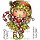 La-La Land Cling Mount Christmas Stamp - Elf Marci