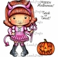 La-La Land Cling Mount Halloween Stamp - Lil' Devil Marci