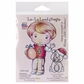 La-La Land Cling Mount Rubber Stamp - Christmas Ornament Luka