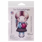 La-La Land Cling Mount Rubber Stamp - Christmas Ornament Marci