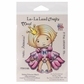 La-La Land Cling Mount Rubber Stamp - Sitting Princess Marci