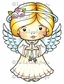La-La Land Cling Mount Rubber Stamp - Angel Marci