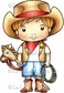 La-La Land Cling Mount Rubber Stamp - Cowboy Luka