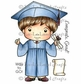 La-La Land Cling Mount Rubber Stamp - Graduation Luka